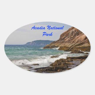 Acadia Shore Oval Sticker