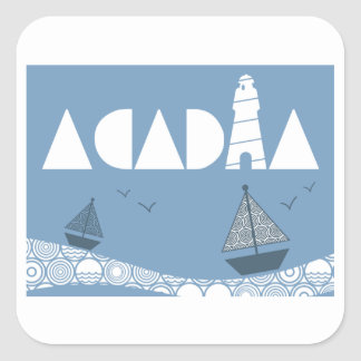 Acadia Square Sticker