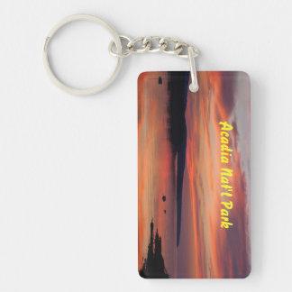 Acadia Sunrise Rectangle Key Chain Rectangular Acrylic Keychains