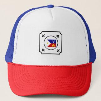 Acadian Flag Fleur De Lis Cajun Louisiana Hat