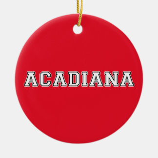 Acadiana Ceramic Ornament