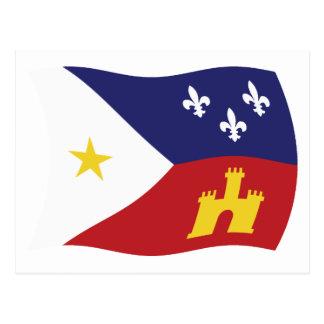 Acadiana Flag Postcard