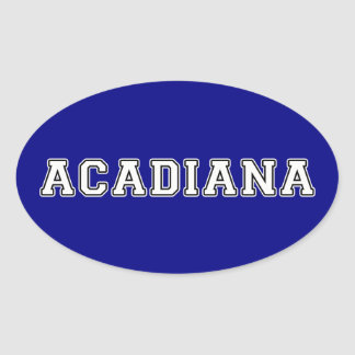Acadiana Oval Sticker