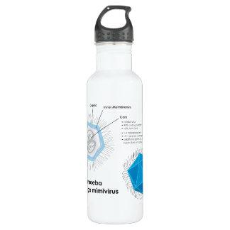 Acanthamoeba polyphaga mimivirus APMV Diagram 710 Ml Water Bottle