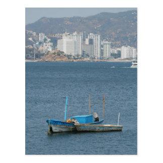 Acapulco boats 2 postcard