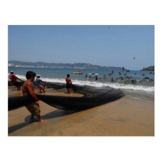 Acapulco fishermen postcard