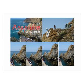 Acapulco - La Qubrada postcard
