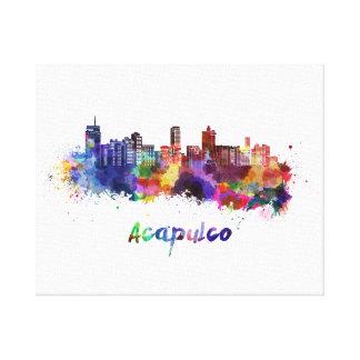 Acapulco skyline in watercolor canvas print