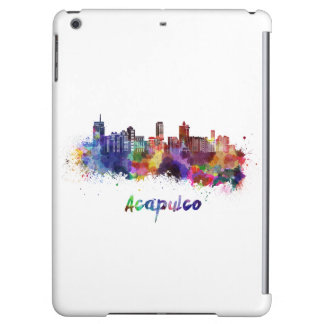 Acapulco skyline in watercolor case for iPad air
