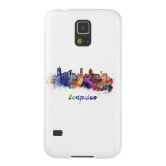 Acapulco skyline in watercolor cases for galaxy s5