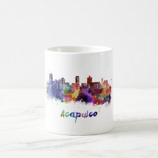 Acapulco skyline in watercolor coffee mug