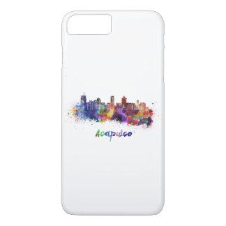 Acapulco skyline in watercolor iPhone 8 plus/7 plus case