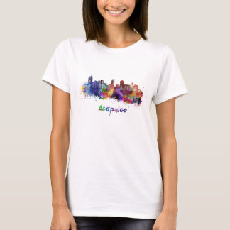 Acapulco skyline in watercolor T-Shirt