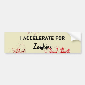 Accelerate For Zombies Bumper Sticker