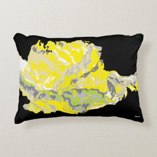 "Accent Pillow 16"" x 12"" Yellow Rose"