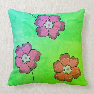 Accent Pillow 20x20 green mangopink