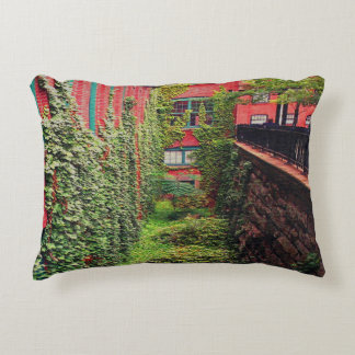 Accent Pillow - Brick & Ivy Scene - Full Color