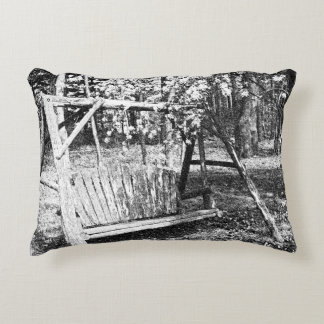 Accent Pillow - Country Wooden Swing - Any Color