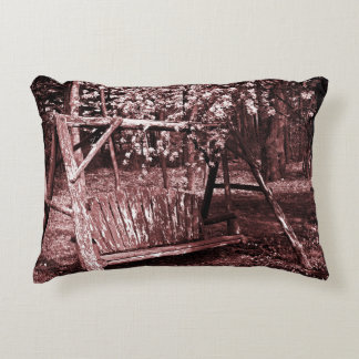 Accent Pillow - Country Wooden Swing - Brown
