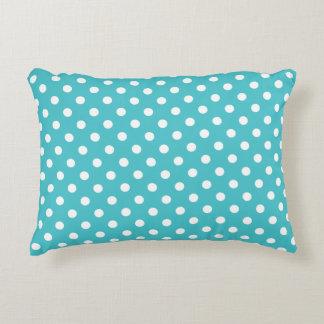 Accent Pillow - Curacao Blue Polka Dot