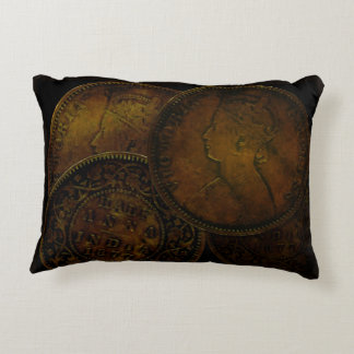 Accent Pillow with Coin Half Anna India from 1877