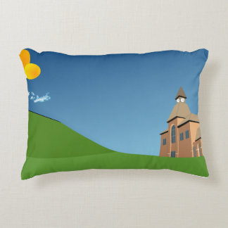 Accent Pillow With Landscape Graphics