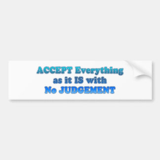 Accept Everything Bumper Sticker
