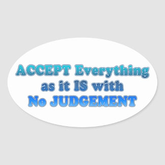 Accept Everything Oval Sticker