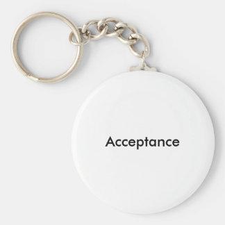 Acceptance Basic Round Button Keychain