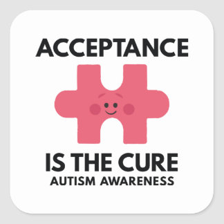 Acceptance Is The Cure Square Sticker