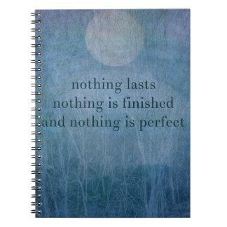 Acceptance  quote wabi sabi spiral notebook