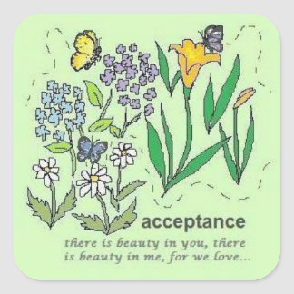 acceptance square sticker