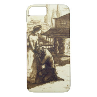 Accepted, 1853 (pen & brown ink on paper) iPhone 7 case