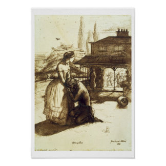Accepted, 1853 (pen & brown ink on paper) print