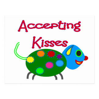 Accepting Kisses Kids Shirts Postcard