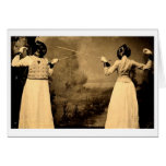 Accès de clôture vintage des femmes ! Clôture de l Cartes De Vœux