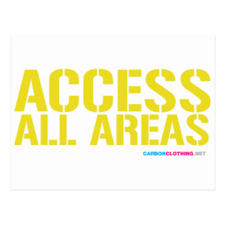 Access All Areas Postcard
