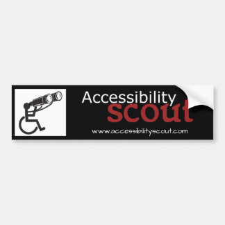 Accessibility Scout Bumper Sticker