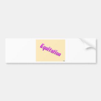 accessoires equitation bumper sticker