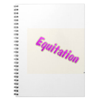 accessoires equitation spiral note books
