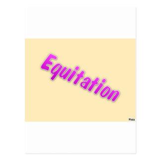 accessoires equitation postcard