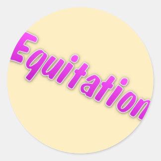 accessoires equitation round sticker