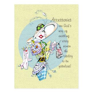 Accessories are God's way...postcard Postcard