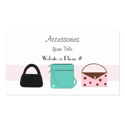 accessories designer handbags business card zazzle. Black Bedroom Furniture Sets. Home Design Ideas