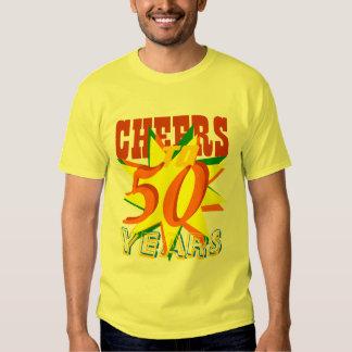 Acclamations à 50 ans d'anniversaire tshirt