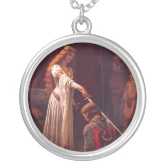 Accolade - The Knight Silver Plated Necklace