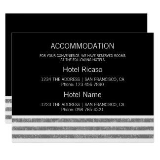 Accomodation Grey Striped Card