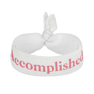 accomplished white and red hair tie