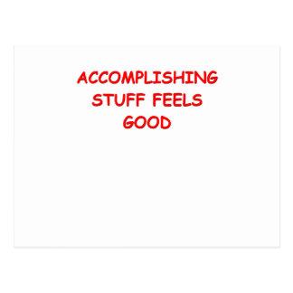 accomplishment postcard