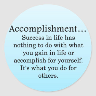 Accomplishment Round Sticker